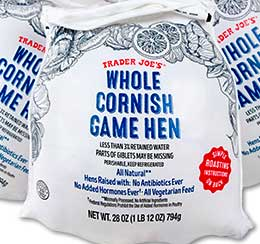 Trader Joe's Whole Cornish Game Hen