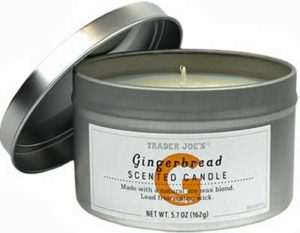 Trader Joe's Gingerbread Scented Candle