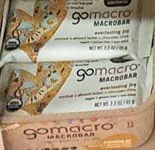 GoMacro MacroBar Everlasting Joy Coconut/Almond Butter/Chocolate Chips