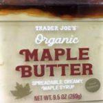 Trader Joe's Organic Maple Butter