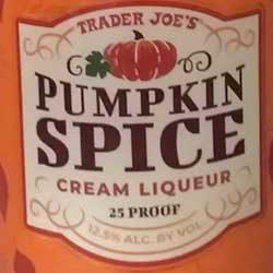 Trader Joe's Pumpkin Spice Cream Liqueur