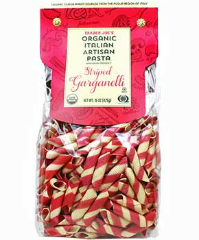 Trader Joe's Organic Striped Garganelli Pasta