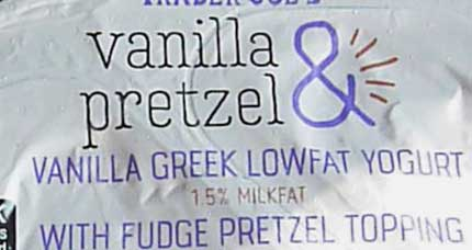 Trader Joe's Vanilla & Pretzel Greek Lowfat Yogurt
