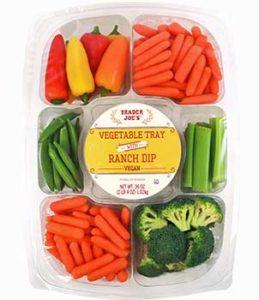 Trader Joe's Vegetable Tray with Vegan Ranch Dip