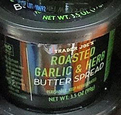 Trader Joe's Roasted Garlic & Herb Butter Spread