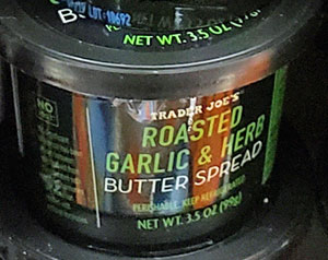 Trader Joe's Roasted Garlic & Herb Butter Spread