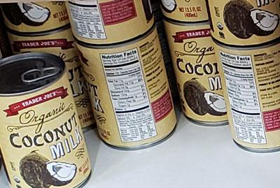 Trader Joe's Organic Coconut Milk