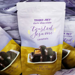 Trader Joe's Dark Chocolate Toasted Sesame Caramels