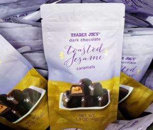 Trader Joe's Dark Chocolate Toasted Sesame Caramels