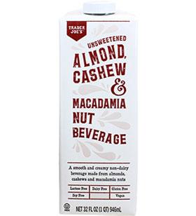 Trader Joe's Unsweetened Almond Cashew Macadamia Nut Beverage