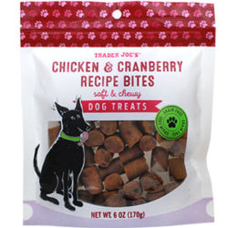 Trader Joe's Chicken & Cranberry Recipe Bites Dog Treats