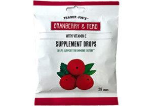 Trader Joe's Cranberry & Herb Supplement Drops