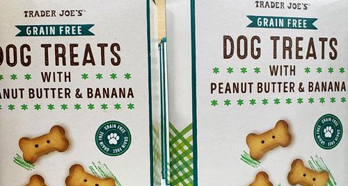 Trader Joe's Grain-Free Dog Treats with Peanut Butter & Banana
