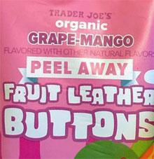 Trader Joe's Grape-Mango Peel Away Fruit Leather Buttons