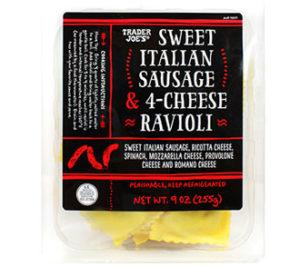 Trader Joe's Sweet Italian Sausage & 4-Cheese Ravioli