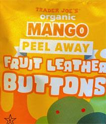 Trader Joe's Mango Peel Away Fruit Leather Buttons