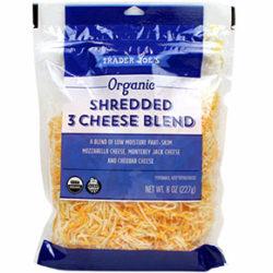 Trader Joe's Organic Shredded 3 Cheese Blend
