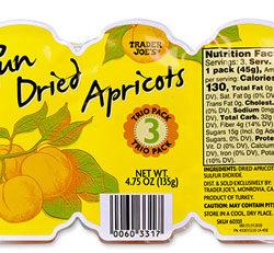 Trader Joe's Sun Dried Apricots Trio Pack