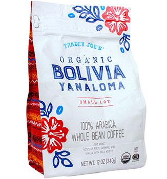 Trader Joe's Organic Bolivian Yanaloma Small Lot Coffee