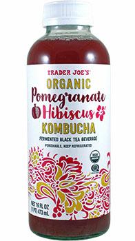 Trader Joe's Organic Pomegranate Hibiscus Kombucha