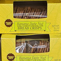 Trader Joe's Banana Date Nut Bread Crisps