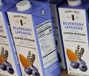 Trader Joe's Blueberry Lavender Almond Milk Beverage