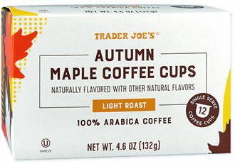 Trader Joe's Autumn Maple Single Serve Coffee Cups Reviews