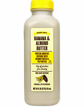 Trader Joe's Banana Almond Butter Protein Smoothie