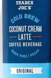 Trader Joe's Cold Brew Caramel Spice Coconut Cream Latte Coffee Beverage Reviews
