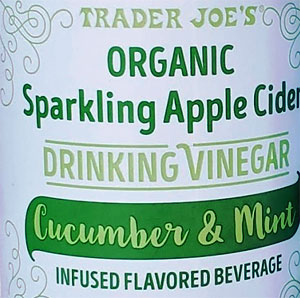 Trader Joe's Organic Cucumber & Mint Sparkling Apple Cider Vinegar
