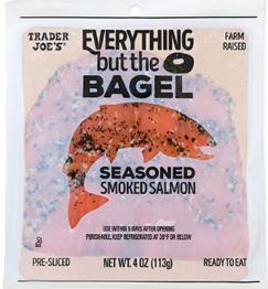 Trader Joe's Everything But the Bagel Seasoned Smoked Salmon