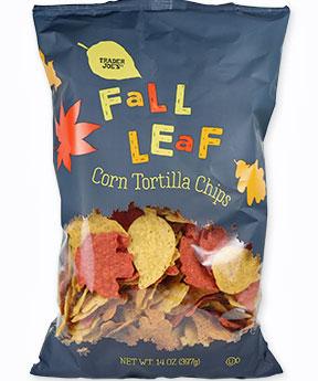 Trader Joe's Fall Leaf Corn Tortilla Chips