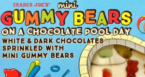 Trader Joe's Mini Gummy Bears on a Chocolate Pool Day