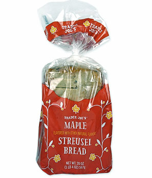 Trader Joe's Maple Streusel Bread