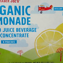 Trader Joe's Organic Lemonade Pouches