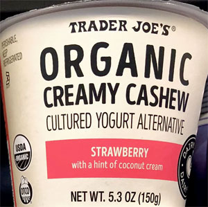 Trader Joe's Organic Strawberry Creamy Cashew Yogurt