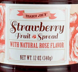 Trader Joe's Strawberry Fruit Spread with Natural Rose Flavor