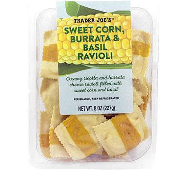 Trader Joe's Sweet Corn, Burrata & Basil Ravioli Reviews