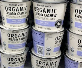 Trader Joe's Organic Vanilla Bean Creamy Cashew Yogurt