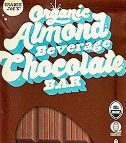 Trader Joe's Organic Almond Milk Beverage Chocolate Bar Reviews