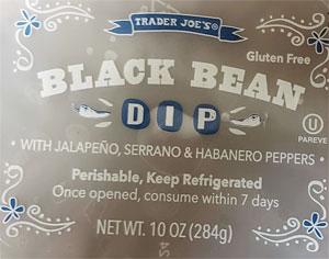 Trader Joe's Black Bean Dip