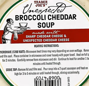 Trader Joe's Unexpected Broccoli Cheddar Soup