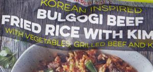 Trader Joe's Korean Inspired Bulgogi Beef Fried Rice With Kimchi