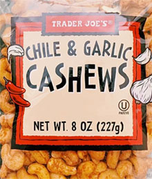 Trader Joe's Chile & Garlic Cashews