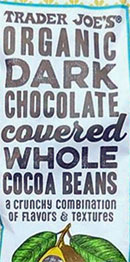 Trader Joe's Organic Dark Chocolate Covered Whole Cocoa Beans