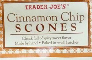 Trader Joe's Cinnamon Chip Scones