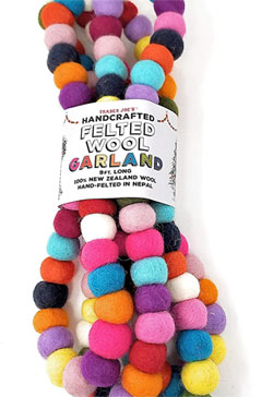 Trader Joe's Handcrafted Felted Wool Garland