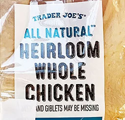 Trader Joe's All Natural Heirloom Whole Chicken Reviews
