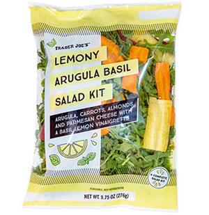 Trader Joe's Lemony Arugula Basil Salad Kit