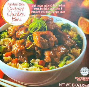 Trader Joe's Mandarin Style Orange Chicken Bowl